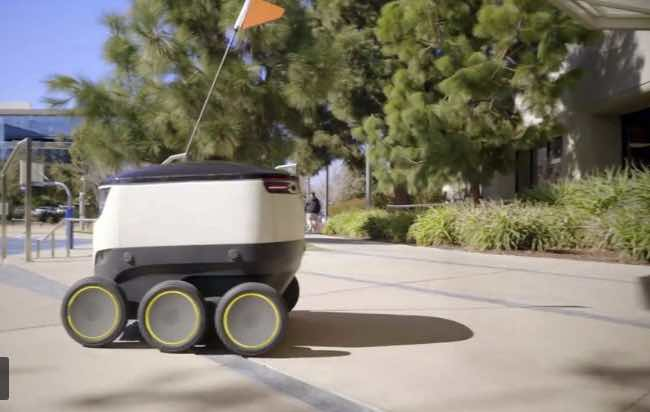 El futuro del delivery: robots y drones que hacen entregas 24 horas al día